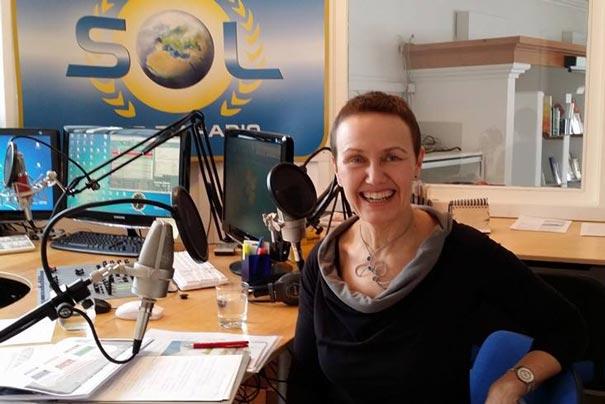 Annemarie Schallhart bei Radio SOL im März 2016